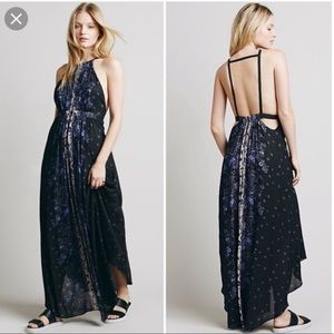 Free People Bohemian Floral Summer Maxi Dress